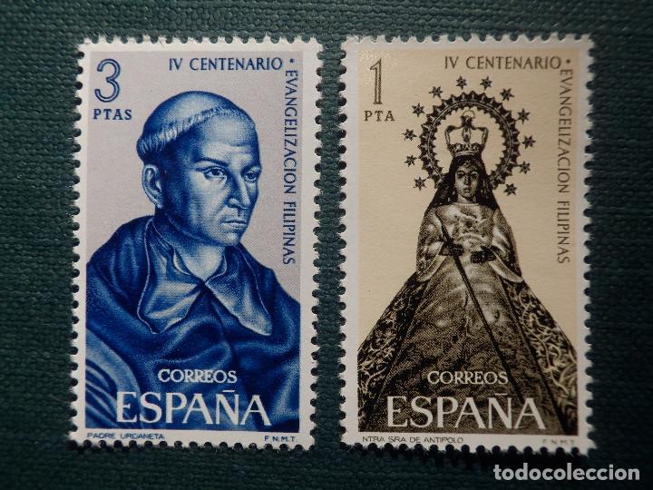 SELLO - IV CENTENARIO EVANGELIZACIÓN FILIPINAS - EDIFIL 1693 Y 1694 - AÑO 1965 - 2 VALORES (Sellos - España - II Centenario De 1.950 a 1.975 - Nuevos)