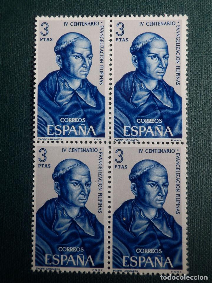 SELLO - IV CENT. EVANGELIZACIÓN FILIPINAS, ANDRES DE URDANETA - EDIFIL 1694 - AÑO 1965 - BLOQUE DE 4 (Sellos - España - II Centenario De 1.950 a 1.975 - Nuevos)