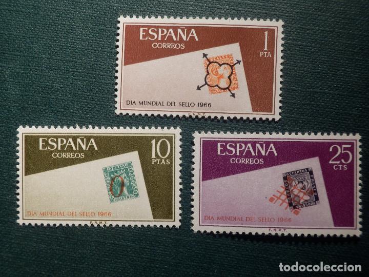 SELLO - SERIE DÍA MUNDIAL DEL SELLO - EDIFIL 1723, 1724 Y 1725 - AÑO 1966 - 3 VALORES (Sellos - España - II Centenario De 1.950 a 1.975 - Nuevos)
