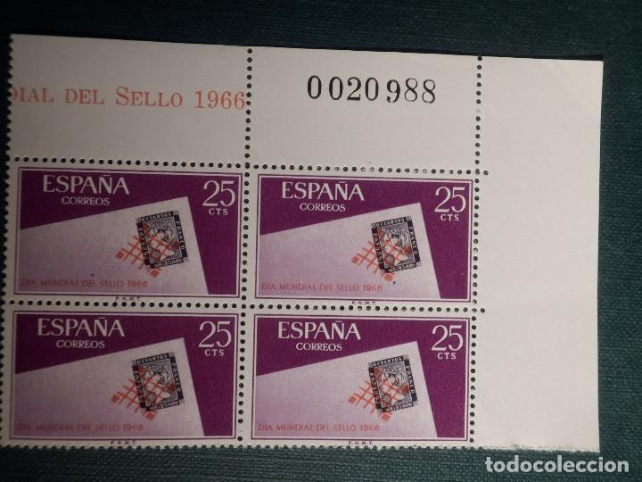 SELLO - DÍA MUNDIAL DEL SELLO, PARRILA DE REUS - EDIFIL 1723 - AÑO 1966 - BLOQUE DE 4 CON MATRIZ (Sellos - España - II Centenario De 1.950 a 1.975 - Nuevos)