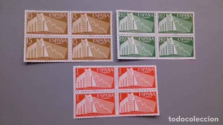 ESPAÑA- 1956 - EDIFIL 1196/1198 - BLOQUE DE 4 - SERIE COMPLETA - MNH** - NUEVOS - VALOR CATALOGO 65€ (Sellos - España - II Centenario De 1.950 a 1.975 - Nuevos)