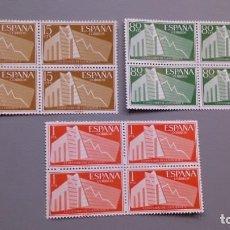 Sellos: ESPAÑA- 1956 - EDIFIL 1196/1198 - BLOQUE DE 4 - SERIE COMPLETA - MNH** - NUEVOS - VALOR CATALOGO 65€. Lote 146909438