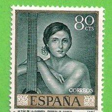 Timbres: EDIFIL 1660. ROMERO DE TORRES - ''NIÑA DE LA GUITARRA''. (1965).** NUEVO SIN FIJASELLOS.. Lote 147047382