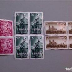 Sellos: INV-ESPAÑA - 1953 - EDIFIL 1126/1128 - SERIE COMPLETA - BLOQUE 4 - MNH** - NUEVOS - VALOR CAT. 200€. Lote 147086522
