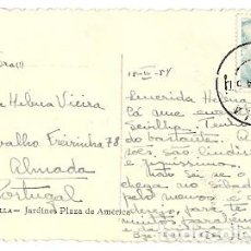 Sellos: ESPAÑA & MARCOFILIA, SEVILLA, JARDINES Y PLAZA DE AMERICA, ALMADA PORTUGAL 1954 (18). Lote 147106358