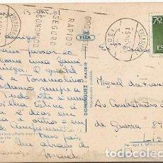 Sellos: ESPAÑA & MARCOFILIA, MALAGA, AYUNTAMIENTO Y PUERTA OSCURA, FUENGIROLA PARA LISBOA 1961 (3) . Lote 147106486