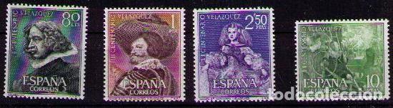 SELLOS DE ESPAÑA AÑO 1960 MUERTE PINTOR VELÁZQUEZ SELLOS NUEVOS** (Sellos - España - II Centenario De 1.950 a 1.975 - Nuevos)