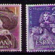 Sellos: SELLOS DE ESPAÑA AÑO 1960 MUERTE PINTOR VELÁZQUEZ SELLOS NUEVOS**. Lote 147314282