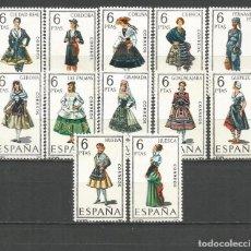 Sellos: ESPAÑA TRAJES TIPICOS EDIFIL NUM. 1839/1850 ** SERIE COMPLETA SIN FIJASELLOS . Lote 147518990