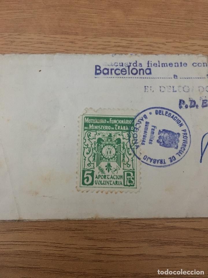 MUTUALIDAD FUNCIONARIOS TRABAJO. 5 PTS. (Sellos - España - II Centenario De 1.950 a 1.975 - Usados)