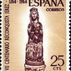 Sellos: [CF2341] ESPAÑA 1964, VII CENT. DE LA RECONQUISTA DE JEREZ DE LA FRONTERA. 25 C. (MNH). Lote 147752146