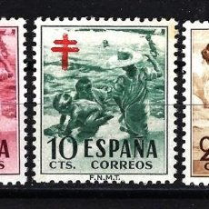 Sellos: ESPAÑA 1951 EDIFIL Nº 1103/1105 MNH** NUEVOS LUJO SIN CHARNELA PRO TUBERCULOSOS CRUZ DE LORENA. Lote 151819073
