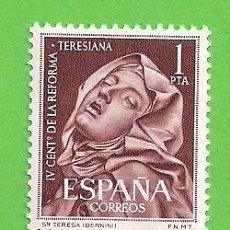 Sellos: EDIFIL 1429. IV CENTENARIO DE LA REFORMA TERESIANA - SANTA TERESA. (1962).** NUEVO SIN FIJASELLOS.. Lote 148161826