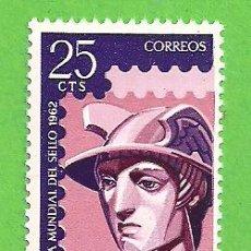 Sellos: EDIFIL 1431. DÍA MUNDIAL DEL SELLO - MERCURIO. (1962).** NUEVO Y SIN FIJASELLOS.. Lote 148164914