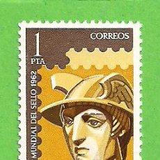 Sellos: EDIFIL 1432. DÍA MUNDIAL DEL SELLO - MERCURIO. (1962).** NUEVO Y SIN FIJASELLOS.. Lote 148165062