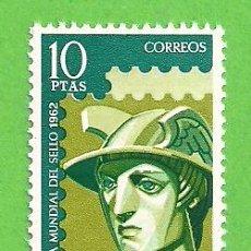 Sellos: EDIFIL 1433. DÍA MUNDIAL DEL SELLO - MERCURIO. (1962).** NUEVO Y SIN FIJASELLOS.. Lote 148165178