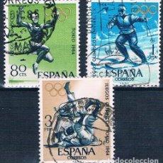 Sellos: ESPAÑA 1964 SELLOS USADO EDIFIL 1618 A1620 JUEGOS OLIMPICOS. Lote 148379410