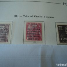 Sellos: ESPAÑA 1951 - VISITA DEL CAUDILLO A CANARIAS EDIFIL 1088-89-90 COLECCION PARTICULAR. Lote 148437154