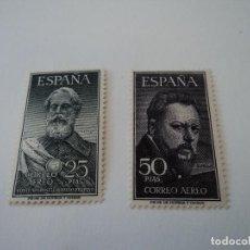 Sellos: ESPAÑA 1953 - LEGAZPI Y SOROLLA - EDIFIL 1124/1125. Lote 148437994
