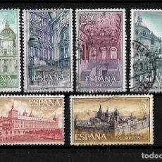 Sellos: ESPAÑA 1961 REAL MONASTERIO SAN LORENZO ESCORIAL SERIE COMPLETA . Lote 149225694