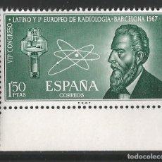 Sellos: ESPAÑA - 1967 - CONGRESO DE RADIOLOGIA - EDIF. 1790. Lote 149526726