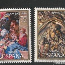 Sellos: ESPAÑA - 1969 - NAVIDAD . EDIFIL 1944-1945. Lote 150534882