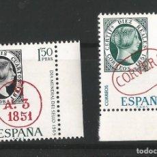 Sellos: ESPAÑA - 1969 - DIA MUNDIAL DEL SELLO . EDIFIL 1922-1923. Lote 150535098