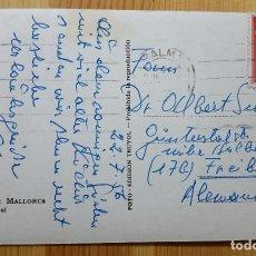 Sellos: SELLO FRANCO 2 PESTEAS ROJO EN POSTAL DE PALMA DE MALLORCA CATEDRAL DESTINO ALEMANIA ED. TRUYOL. Lote 150705266