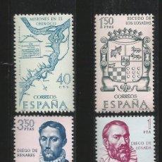 Sellos: ESPAÑA - 1968 - FORJADORES DE AMERICA - EDIFIL 1889 A 1893. Lote 151311402