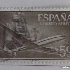 Sellos: ESPAÑA 1955, SELLO DE 50 CT, CORREO AÉREO USADO . Lote 151350922