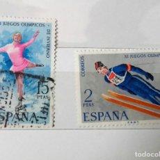 Sellos: ESPAÑA 1972 JUEGOS OLÍMPICOS INVIERNO, SERIE COMPLETA USADOS . Lote 151351466