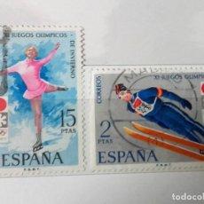 Sellos: ESPAÑA 1972 JUEGOS OLÍMPICOS INVIERNO, SERIE COMPLETA USADOS . Lote 151351526