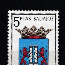 Sellos: 1962 EDIFIL 1407** NUEVO SIN CHARNELA. ESCUDO DE BADAJOZ. Lote 151710170