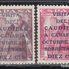 Sellos: ESPAÑA,1951 EDIFIL Nº 1088 / 1089 /**/, VISITA DEL CAUDILLO A CANARIAS.. Lote 151881910