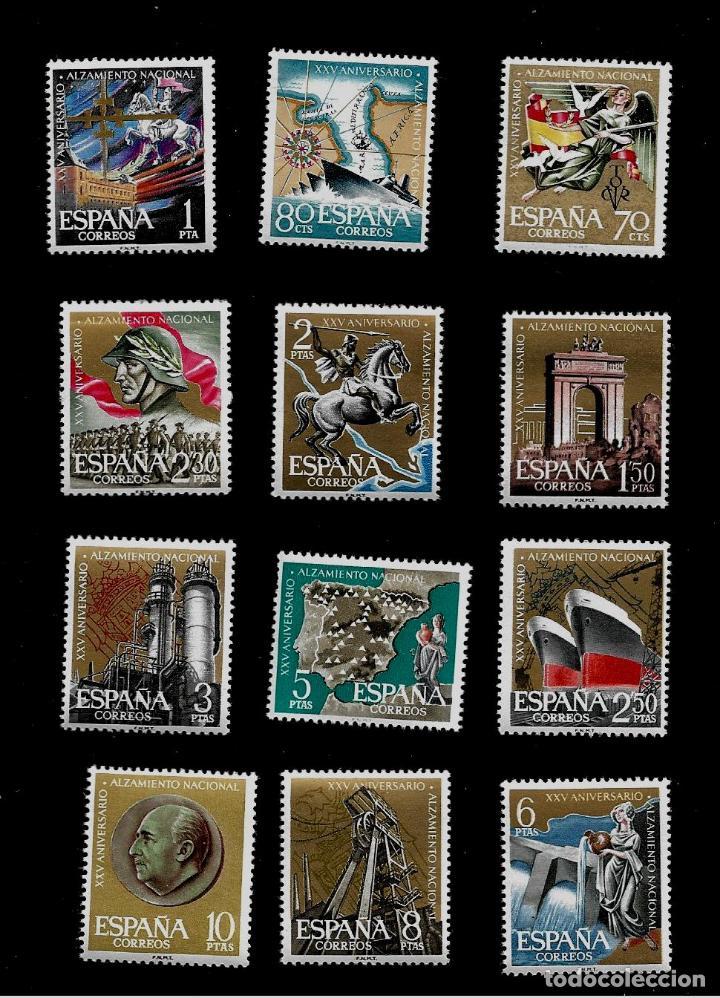XXV ANIVERSARIO DEL ALZAMIENTO NACIONAL - EDIFIL 1353-64 - 1961 (Sellos - España - II Centenario De 1.950 a 1.975 - Nuevos)