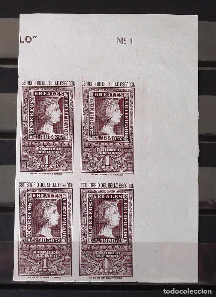 EDIFIL 1079, CUATRO SELLOS EN BLOQUE, NUEVOS, SIN CH., GOMA ORIGINAL. CENTENARIO DEL SELLO ESPAÑOL. (Sellos - España - II Centenario De 1.950 a 1.975 - Nuevos)