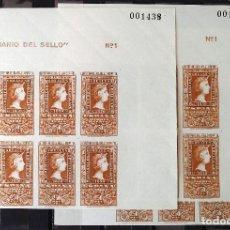 Sellos: EDIFIL 1080, VEINTICUATRO SELLOS EN TRES BLOQUES DE OCHO, NUEVOS, GOMA ORIGINAL, SIN CH. CENTENARIO.. Lote 152444678