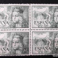Sellos: EDIFIL 1097, BLOQUE DE CUATRO, NUEVO, SIN CH. AÉREO. ISABEL LA CATÓLICA.. Lote 152532002
