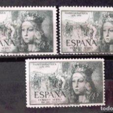 Sellos: EDIFIL 1097, TRES SELLOS, NUEVOS, SIN CH. AÉREO. ISABEL LA CATÓLICA.. Lote 152532066