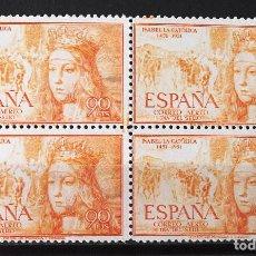 Sellos: EDIFIL 1098, BLOQUE DE CUATRO, NUEVO, SIN CH. AÉREO. ISABEL LA CATÓLICA.. Lote 152532126