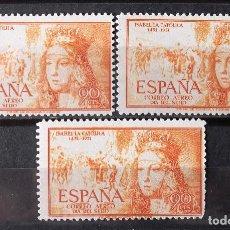 Sellos: EDIFIL 1098, TRES SELLOS, NUEVOS, SIN CH. AÉREO. ISABEL LA CATÓLICA.. Lote 152532222