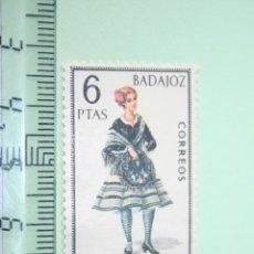 Sellos: BADAJOZ (FOLCLORE / TRADICIONAL) *** SELLO 6 PESETAS (1967) *** ESPAÑA (SIN TIMBRE). Lote 152533290