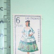 Sellos: LAS PALMAS (FOLCLORE / TRADICIONAL) *** SELLO 6 PESETAS (1968) *** ESPAÑA (SIN TIMBRE). Lote 152533738