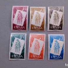Sellos: ESPAÑA - 1956 - EDIFIL 1200/1205 - SERIE COMPLETA - MNH** - NUEVOS - VALOR CATALOGO 30€. Lote 153400422