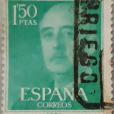 Sellos: SELLO ESPAÑA EDIFIL N°1155 GENERAL FRANCO. Lote 153511398