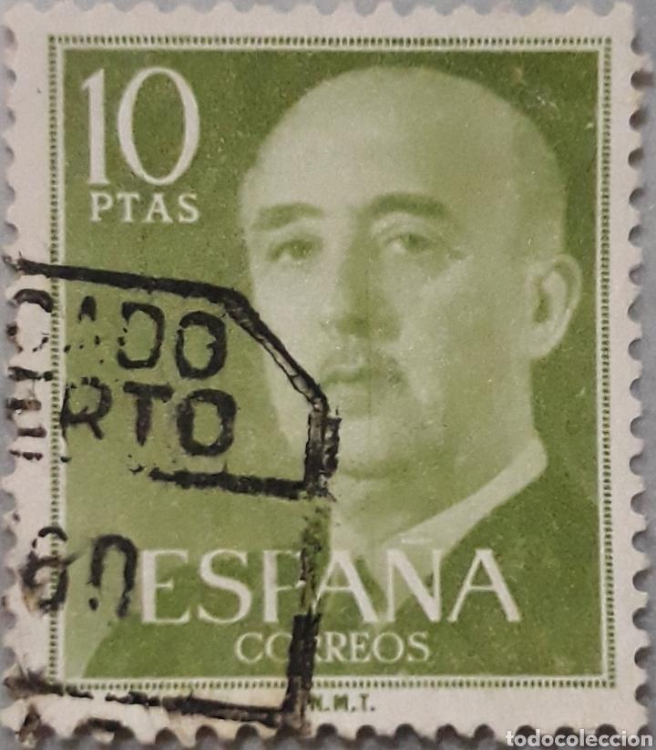 SELLO ESPAÑA EDIFIL N°1163 GENERAL FRANCO EDIFIL (Sellos - España - II Centenario De 1.950 a 1.975 - Usados)