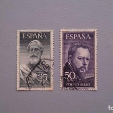 Sellos: ESPAÑA - 1953 - EDIFIL 1124/1125 - SERIE COMPLETA - MUY BIEN CENTRADOS - LUJO - VALOR CATALOGO 116€.. Lote 153711014