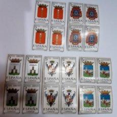 Sellos: ESCUDOS Y TRAJES REGIONALES COMUNIDAD CASTILLA- LA MANCHA X 4. Lote 153736798