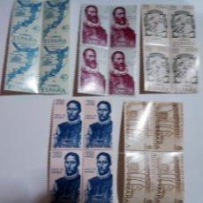 Sellos: SELLOS ESPAÑA FORJADORES AMERICA 9ª SERIE 1968 X 4. Lote 154340370