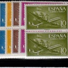 Sellos: ESPAÑA 1955 SERIE COMPLETA BLOQUES DE CUATRO -1169 A 1179 NUEVOS SIN FIJASELLOS. Lote 154401914